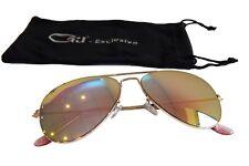 Pilotenbrille Sonnenbrille Fliegerbrille Retro Brille Pornobrille Gold Rosa G1