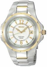 Seiko Men's SGEE68 Coutura Two-Tone Silver And White Dial Watch