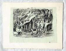 Ernst Straßner 1905-1991 Eisfeld Braunschweig / Tusche Erinnynen Mythologie