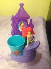 Disney Princess Royal 👑 Smile Set Toothbrush Holder Rinse Cup Mermaid ARIEL