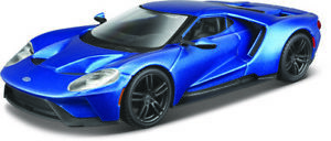 Ford Gt Year 2017 Blue scale 1:3 2 From Bburago