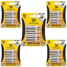 JCB Super Alkaline AA Batteries 20 Pack  Heavy Duty Zinc 1.5 V For Toys Camera
