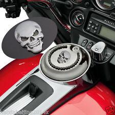 Tank Fender Metal Skull Demon Bone Badge Emblem Metal Decal Sticker For Harley
