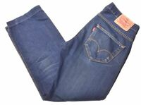 LEVI'S Womens 504 Jeans W30 L34 Blue Cotton Straight  NI08