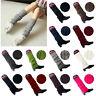 Lady's Winter Slouch Warm Knit Crochet High Knee Leg Warmers Leggings Boot Socks