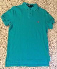 Ralph Lauren Men's Custom Fit Polo Cotton Mesh Polo Color-Jade Green EUC Sz: Med