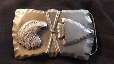 Gürtelschnalle Indianisch Adler & Pfeilspitze Made in USA