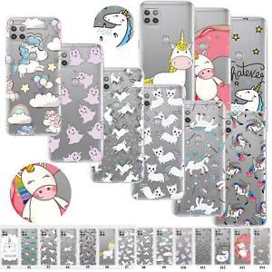For Motorola Moto G9 Power G8 Plus G5S Popular Unicorn Clear Soft TPU Case Cover