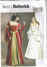 Renaissance Queen Princess Wedding Dress Gown Sewing Pattern Size 6 8 10 12