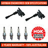4x Genuine NGK Spark Plugs & 2x Ignition Coils for Mazda 323 BJ MX-5 NB