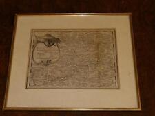 Originaldrucke (bis 1800) mit Landkarte für Kupferstich