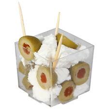 288x Mini Canapé Clear Cubed Bowls 68ml- Wholesale/Bulk Disposables (Ref:113)