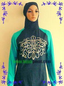 Lady Woman Modest Muslim Islam Burqini Swimsuit Swimwear Full Piece Beachwear