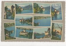Chateau de Chillon Switzerland 1947 Postcard 309a