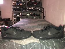Nike Court Borough Low Mens Leather Basketball Shoes Size 12 Black