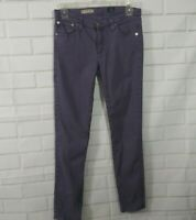 AG Adriano Goldschmied Jeans 27R The Stevie Ankle Purple Slim Straight Skinny