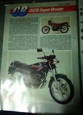 Honda CB125TD / CB125 Twin Superdream - Original sales brochure / Leaflet