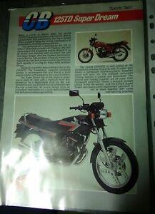 Honda CB125TD / CB125 Twin Superdream - Original sales brochure / Leaflet