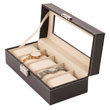 Uhrenbox Uhrenkoffer für 5 Uhren Uhrentruhe Uhrenkasten Uhrenschatulle