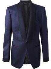Men's Blue Designer Bespoke Tuxedo Jacket Shawl Lapel Wedding Party Prom NEW US