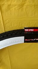 Bicycle Tire 26 x 2.125  White Wall Street Tread Beach Cruiser  Wide White Wall