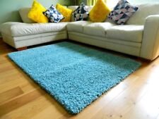 SMALL LARGE THICK SOFT PILE PLAIN SOFT NON SHED LIVING ROOM HALL SHAGGY RUGS
