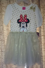 Disney Junior Minnie Mouse dress, ivory & gold, Girl's size 4T