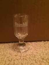 Rare REPUBLIC AIRLINES [NO LONGER OPERATING] JUICE SHOT GLASS : Hard To Find