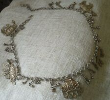 vintage art deco middle eastern metal linked chain small belt or large necklace