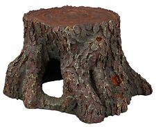 Tree Stump Fish Cave Aquarium Ornament Reptile Terrarium Wood Decoration