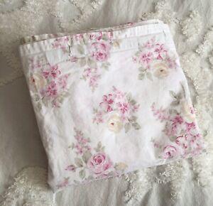 Simply Shabby Chic Shower Curtain Pink Blush Beauty Rachel Ashwell 100% Cotton