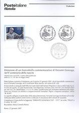 ITALIA 2007 FERRANTE GONZAGA  BOLLETTINO COMPLETO DI FRANCOBOLLI FDC