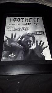 KRS-One I Got Next Rare Original Radio Promo Poster Ad Framed!