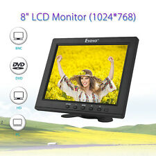 "Light 8""IPS LCD Monitor Screen AV BNC HD HDMI Video Audio for PC/CCTV/DVD Safety"