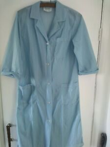Ladies Nylon Overall NEW Turquoise SWMS gingham check design NEW Pinny Overall