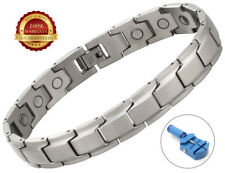 Men Magnetic Health Bracelet Stainless Steel Therapy Healing Relief Arthritis