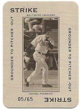 2005 THROWBACK THREADS POLO GROUNDS 65 STRIKE GROUNDER #PG31 Rafael Palmeiro /65