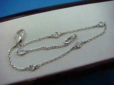 "0.25 CT 5 STATIONS ""DIAMONDS BY THE YARD"" 14K WHITE GOLD BRACELET, 7 INCH LONG"