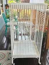 4 ft Bird Cage Large Parrot w Play Top Area, powder coat