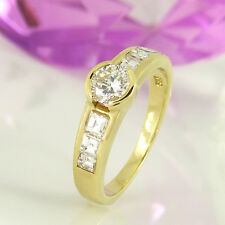 Ring in 585 Gelbgold 14K mit 7 Diamanten ca 0,98 ct TopWesselton vsi-si - Gr. 54