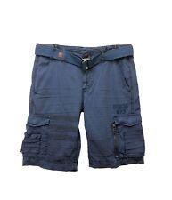 NEW AFFLICTION American Brand Mens Norris Flag Cargo Shorts w/ Belt Marine