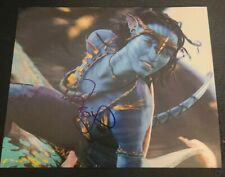ZOE SALDANA SIGNED 8X10 PHOTO AVATAR NEYTERI JAMES CAMERON W/COA+PROOF RARE WOW
