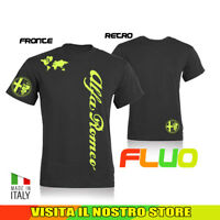 T SHIRT MAGLIA TUNING  IDEA REGALO ALFA ROMEO CAR AUTO FLUO UOMO DONNA HAPPINESS