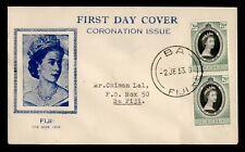 DR WHO 1953 FIJI FDC CORONATION QUEEN ELIZABETH II  183672