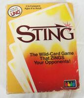 Sting Card Game 1984 International Games