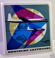 Deutsche Lufthansa Vintage Style Travel Decal / Vinyl Sticker, Luggage Label