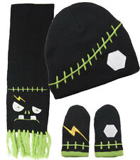 86172 Frankenstein INFANT Scarf Mitten Hat Set Sourpuss Halloween Baby Gloves