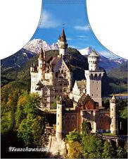 Schloss Neuschwanstein Bayern Schürze Grillschürze Kochschürze NEUWARE Bayrisch