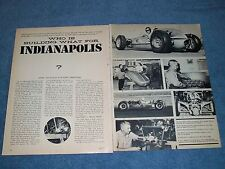 1964 Who is Building What For the Indianapolis 500 Indy Article