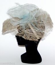 CHAPEAU Taille Unique CHACUN SON STYLE d'été cérémonie femme bleu clair blue hat